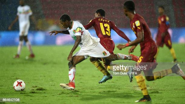 Ibrahim Kane of Mali and Gabriel Leveh of Ghana in action during the FIFA U17 World Cup India 2017 Quarter Final match between Mali and Ghana at...