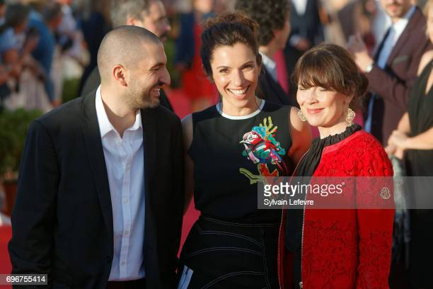 Ibrahim Maalouf Aure Atika Anne Dorval attend red carpet of 3rd day of the 31st Cabourg Film Festival on June 16 2017 in Cabourg France