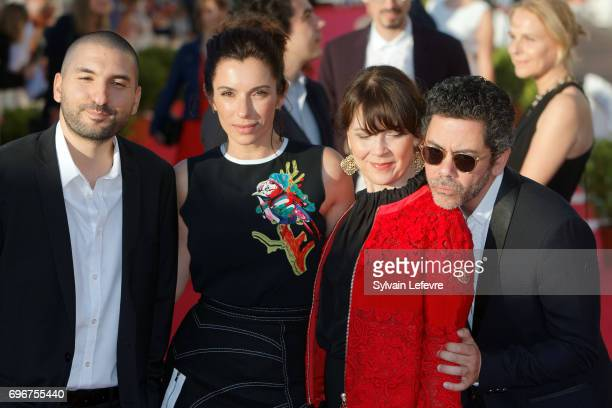 Ibrahim Maalouf Aure Atika Anne Dorval Manu Payet attend red carpet of 3rd day of the 31st Cabourg Film Festival on June 16 2017 in Cabourg France