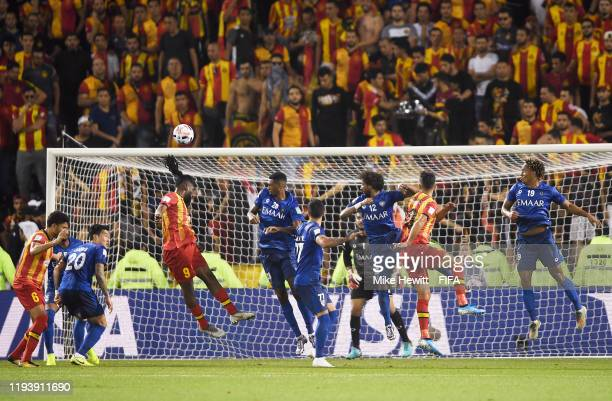 Ibrahim Outtara of Esperance Sportive de Tunis heads wide during the FIFA Club World Cup 2nd round match between Al Hilal and Esperance Sportive de...