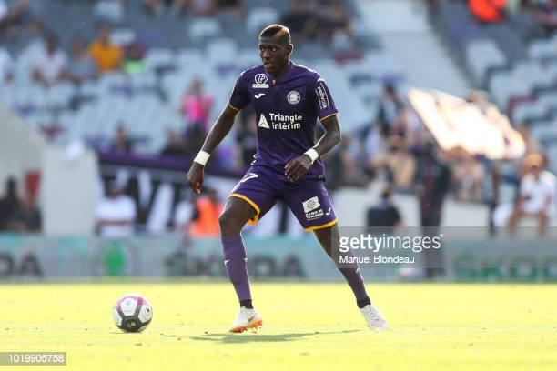 Ibrahim Sangare of Toulouse during the French Ligue 1 match between Toulouse and Bordeaux at Stadium Municipal on August 19 2018 in Toulouse France