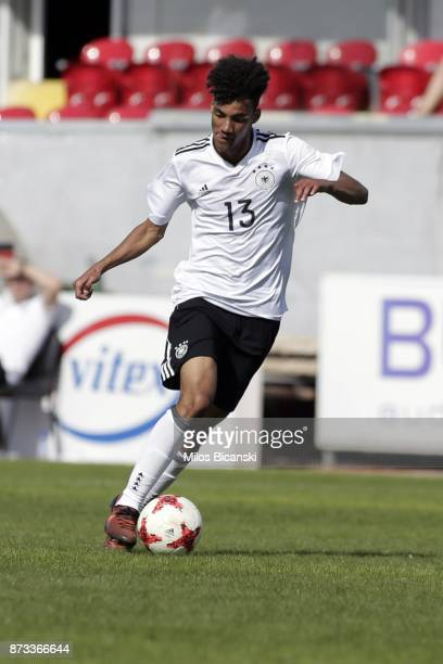 Ibrahim Yassin of Germany in action during the Germany vs Italy U18 friendly match at Ammochostos Stadium at Larnaca on November 12 2017 in Larnaca...
