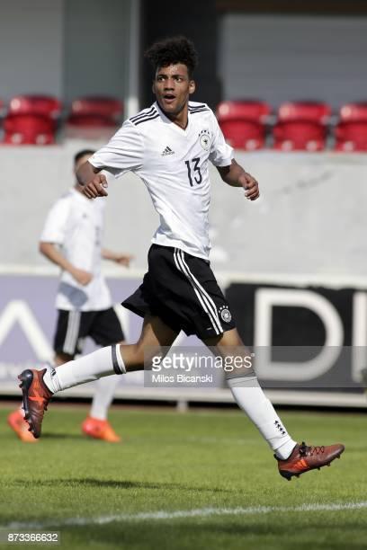 Ibrahim Yassinof Germany in action during the Germany vs Italy U18 friendly match at Ammochostos Stadium at Larnaca on November 12 2017 in Larnaca...