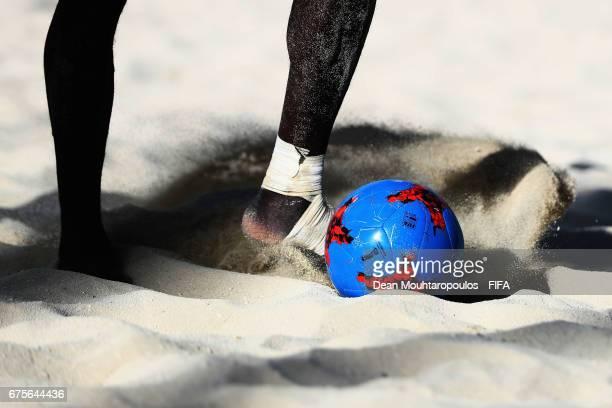 Ibrahima Balde of Senegal controls the ball during the FIFA Beach Soccer World Cup Bahamas 2017 group A match between Switzerland and Senegal at...