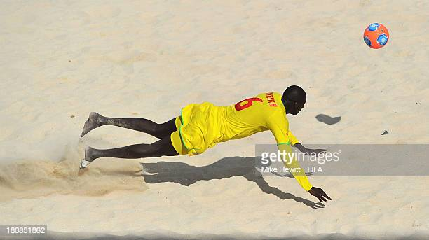 Ibrahima Balde of Senegal in action during a training session at the To'ata Stadium on September 16, 2013 in Papeete, French Polynesia.