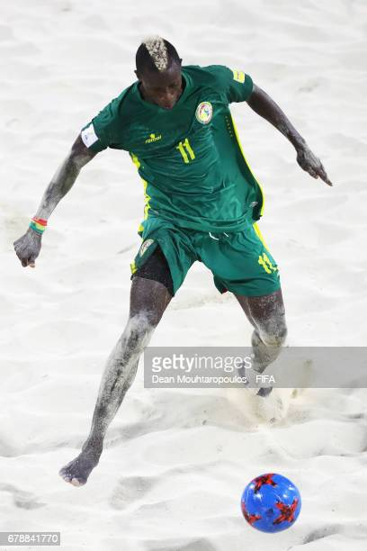 Ibrahima Balde of Senegal in action during the FIFA Beach Soccer World Cup Bahamas 2017 quarter final match between Italy and Senegal at National...