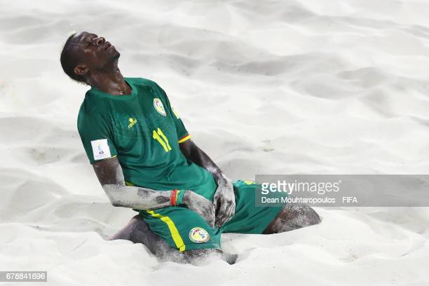 Ibrahima Balde of Senegal looks dejected celebrate after the FIFA Beach Soccer World Cup Bahamas 2017 quarter final match between Italy and Senegal...