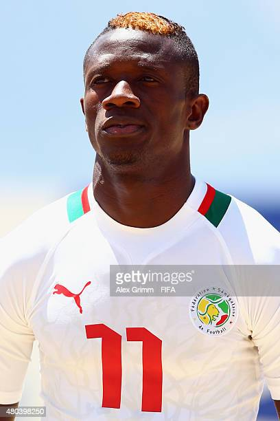 Ibrahima Balde of Senegal looks on prior to the FIFA Beach Soccer World Cup Portugal 2015 Group A match between Senegal and Portugal at Espinho...