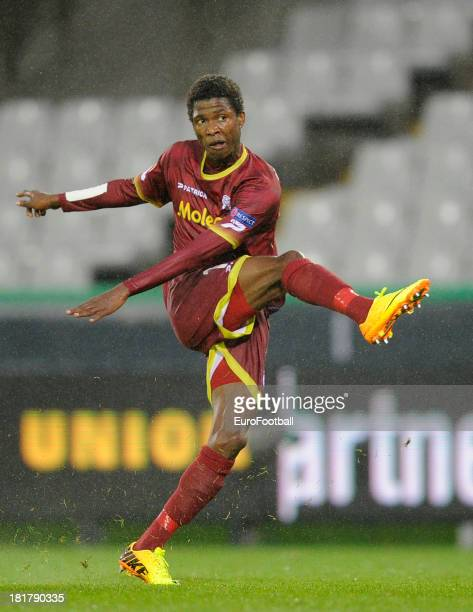 Ibrahima Conte of SV Zulte Waregem in action during the UEFA Europa League group stage match between SV Zulte Waregem and Wigan Athletic FC held on...