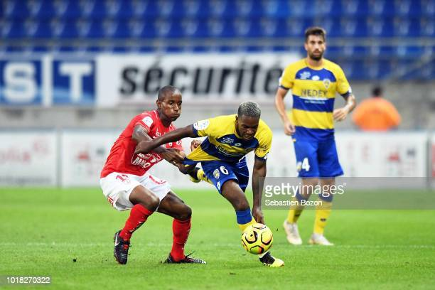 Julien Faussurier of Brest during the French Ligue 2 match between Sochaux and Brest at Stade Auguste Bonal on August 17 2018 in Montbeliard France