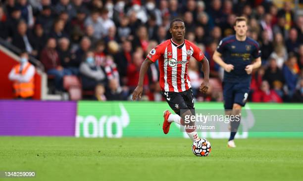 Ibrahima Diallo of Southampton during the Premier League match between Southampton and Burnley at St Mary's Stadium on October 23, 2021 in...