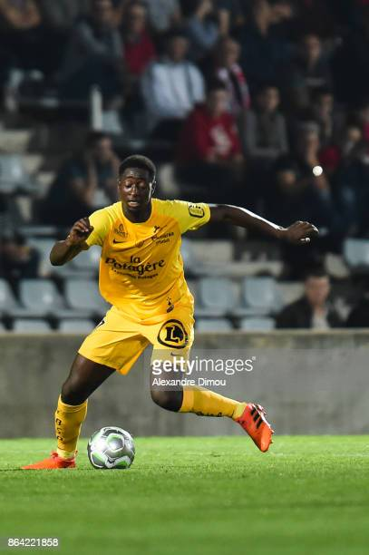 Ibrahima Sissoko of Brest during the Ligue 2 match between Nimes Olympique and Stade Brestois at on October 20 2017 in Nimes France