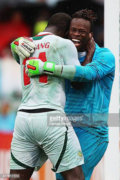 Ibrahima Sy of Senegal celebrates after saving a penalty goal with Malick Niang of Senegal during the FIFA U20 World Cup Third Place Playoff match...