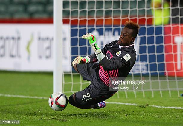 Ibrahima Sy of Senegal saves the fourth penalty to win the penalty shoot out against Ukraine during the FIFA U20 World Cup round of 16 match between...