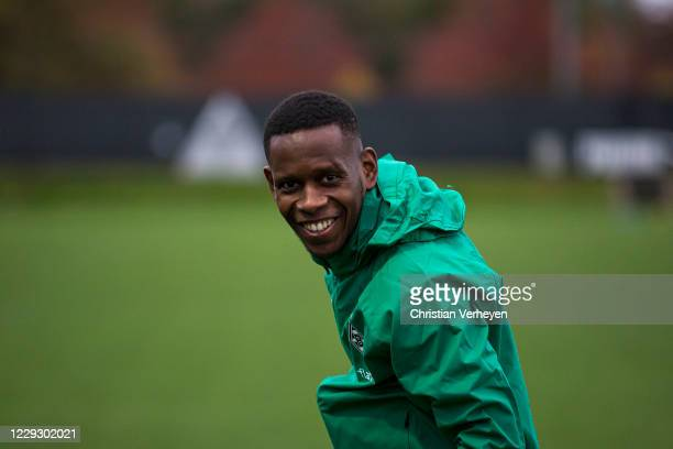 Ibrahima Traore during a Training session of Borussia Moenchengladbach at Borussia-Park on October 26, 2020 in Moenchengladbach, Germany.