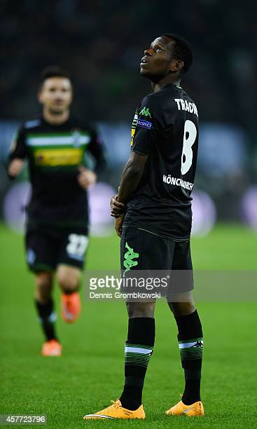 Ibrahima Traore of Borussia Moenchengladbach celebrates as he scores their first goal during the UEFA Europa League group stage match between...