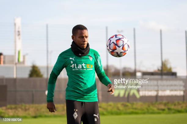 October 19: Ibrahima Traore of Borussia Moenchengladbach in action during a training session of Borussia Moenchengladbach at Borussia-Park on October...