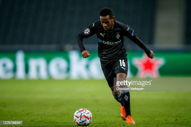 Ibrahima Traore of Borussia Moenchengladbach in action during the Group B - UEFA Champions League match between Borussia Moenchengladbach and...