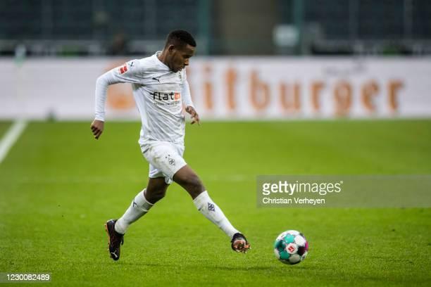Ibrahima Traore of Borussia Moenchengladbach in action during the Bundesliga match between Borussia Moenchengladbach and Hertha BSC at Borussia-Park...