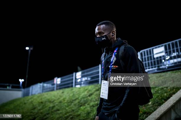 Ibrahima Traore of Borussia Moenchengladbach is seen before the Group B - UEFA Champions League match between Borussia Moenchengladbach and Real...