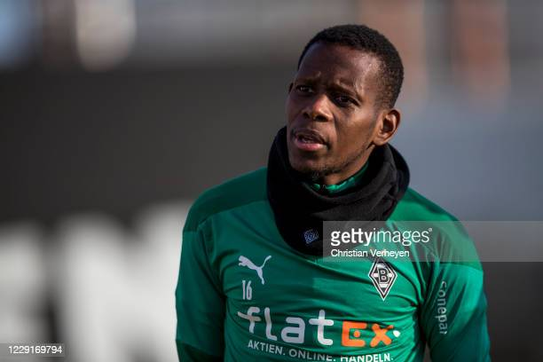 October 19: Ibrahima Traore of Borussia Moenchengladbach is seen during a training session of Borussia Moenchengladbach at Borussia-Park on October...