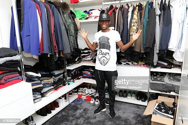 Ibrahima Traore poses during a portrait session at his wardrobe on April 09 2015 in Moenchengladbach Germany