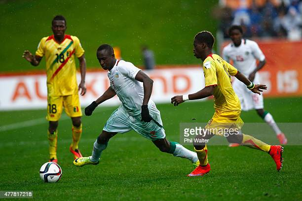 Ibrahima Wadji of Senegal takes the ball forward during the FIFA U20 World Cup Third Place Playoff match between Senegal and Mali at North Harbour...