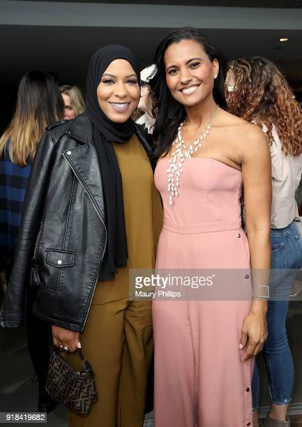 Ibtihaj Muhammad and Christine Simmons attend LOVE FEST women's networking event at The Jeremy Hotel on February 14 2018 in Los Angeles California