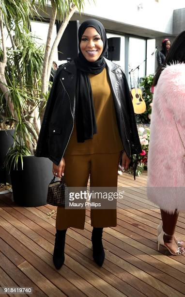 Ibtihaj Muhammad attends LOVE FEST women's networking event at The Jeremy Hotel on February 14 2018 in Los Angeles California