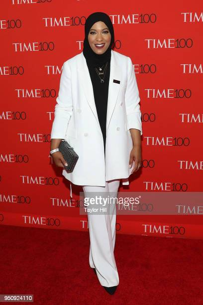 Ibtihaj Muhammad attends the 2018 Time 100 Gala at Frederick P Rose Hall Jazz at Lincoln Center on April 24 2018 in New York City