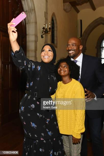 Ibtihaj Muhammad Naomi Wadler and Van Jones attend Global Citizen Week The Spirit Of A Movement at Riverside Church on September 22 2018 in New York...