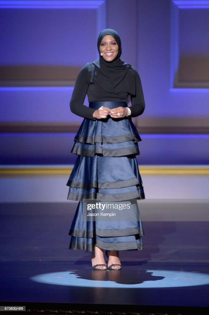Ibtihaj Muhammad speaks onstage at Glamour's 2017 Women of The Year Awards at Kings Theatre on November 13, 2017 in Brooklyn, New York.