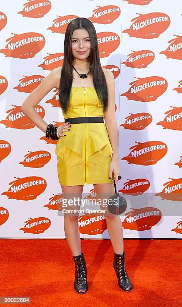 iCarly star Miranda Cosgrove arrives for the Australian Nickelodeon Kids' Choice Awards 2009 at Hisense Arena on November 13 2009 in Melbourne...