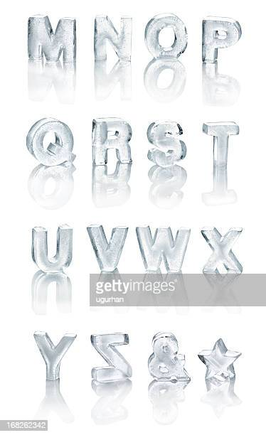 ice alphabet - ice stock pictures, royalty-free photos & images