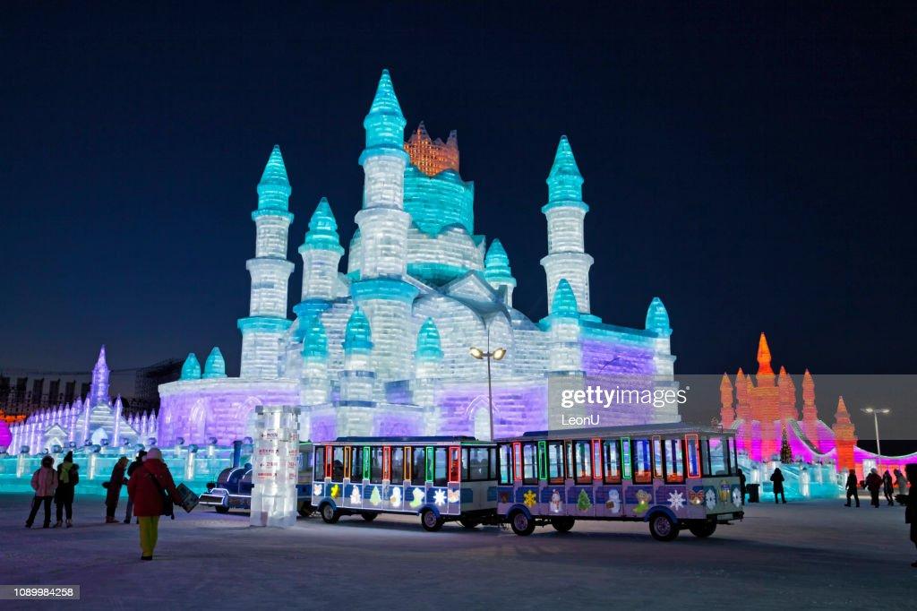 Ice and Snow World, Harbin, China : Stock Photo