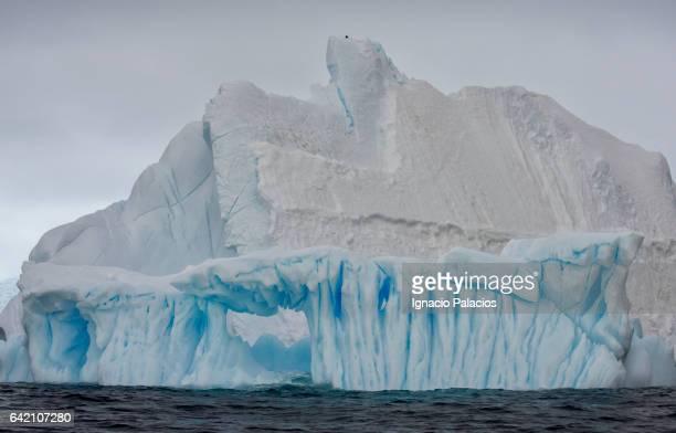 Ice arch, Cierva Cove, Antarctica