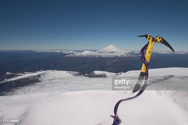 Ice Axe on Top of a volcano