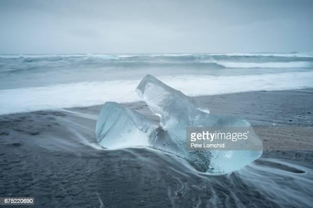 Ice berg black sand diamond beach