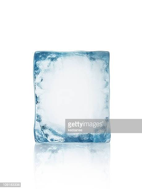 ice block isolated on white - ijs stockfoto's en -beelden