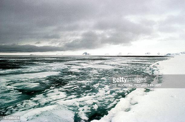 Ice blocks on Canada's Arctic sea