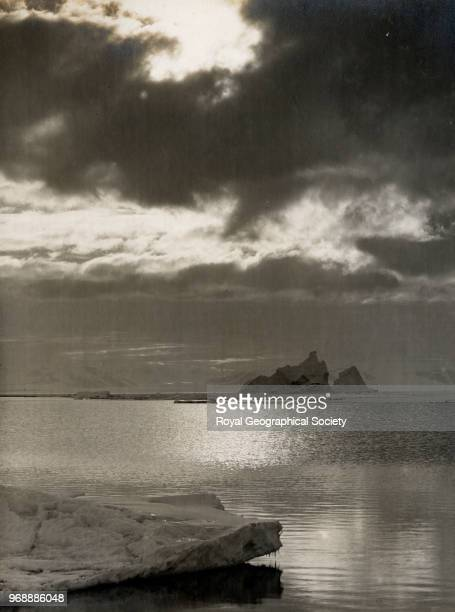 Ice breaking up off Cape Evans Antarctica 30th January 1912 British Antarctic Expedition 19101913