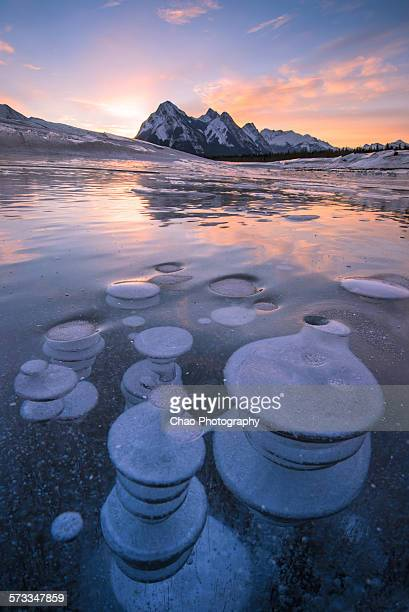 Ice Bubbles at Abraham Lake