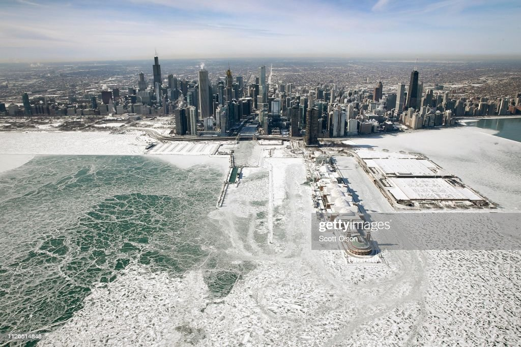 Polar Vortex Brings Extreme Cold Temperatures To Chicago : News Photo