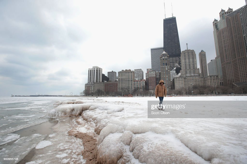 Chicago's Deep Freeze Continues With Single Digit Temperatures : News Photo