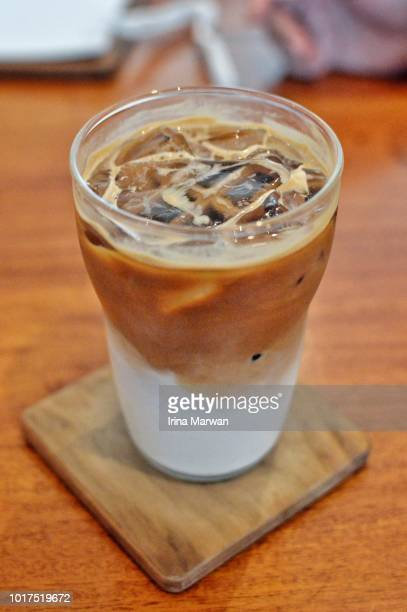ice cappuccino - mocha stock pictures, royalty-free photos & images