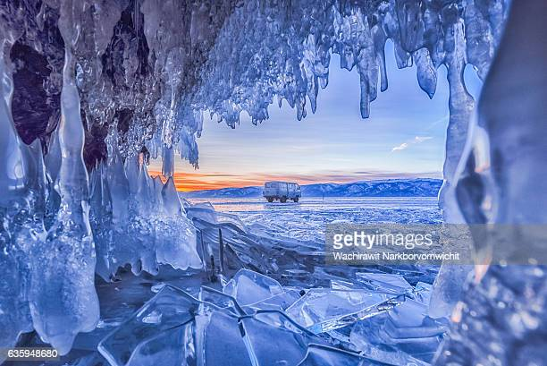 Ice Cave at Baikal Lake, Russia