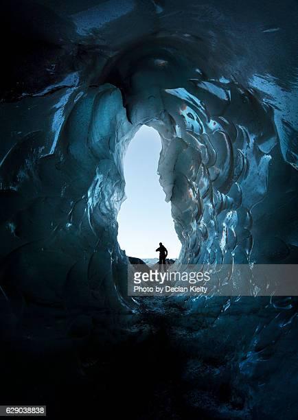 Ice Cave in Sólheimajökull glacier