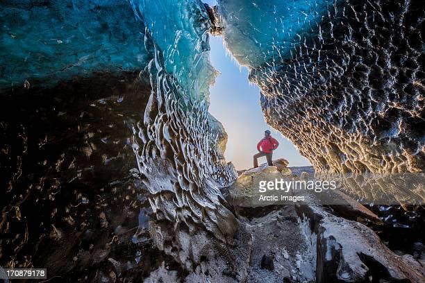 Ice Cave, Svinafellsjokull Glacier, Iceland