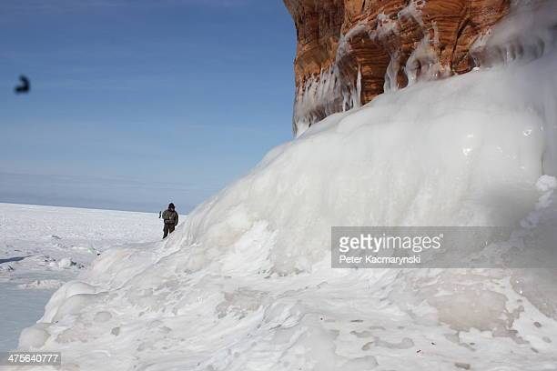 CONTENT] Ice caves along the Apostle Islands National Lakeshore in Wisconsin along Lake Superior