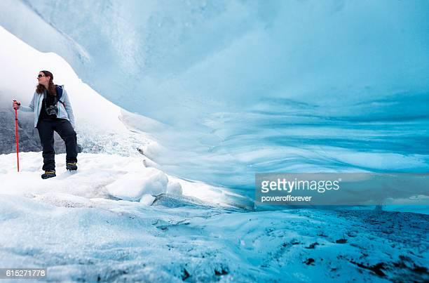 Ice climber on Franz Josef Glacier, New Zealand